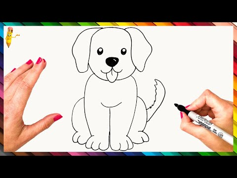 How To Draw A Dog Step By Step 🐕 Dog Drawing Easy