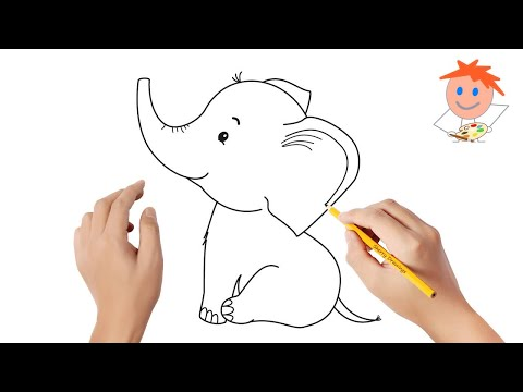 How to draw an elephant | Easy drawings