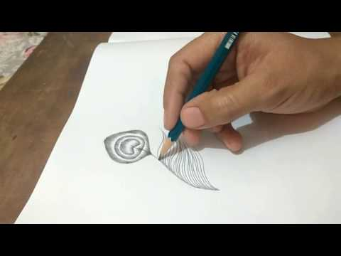 How to draw a peacock feather |simple & easy|