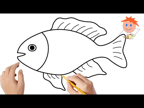 How to draw a fish #4 | Easy drawings