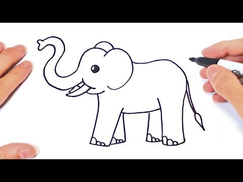 How to draw a Elephant Step by Step | Elephant Drawing Lesson
