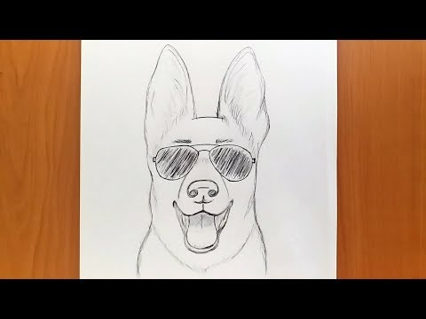 How to draw a dog easy step by step for beginners || dog drawing tutorial