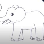 How to Draw an Easy Elephant Step by Step - 7 Different Ways