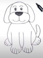Learn to draw cute dog