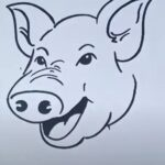 How to Draw a Pig Face Step-by-Step [Easy, Cute, Realistic, Cartoon]