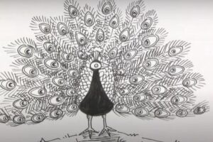 Real easy peacock to draw